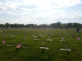 Memorial Day Flag Placement