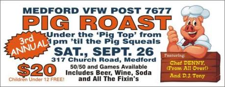 Pig Roast Medford VFW Post 7677